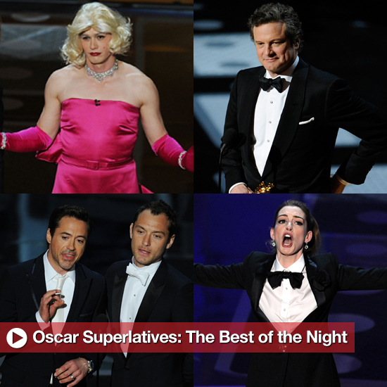 2011 Oscars Best of the Night, Including James Franco, Robert Downey Jr, and More