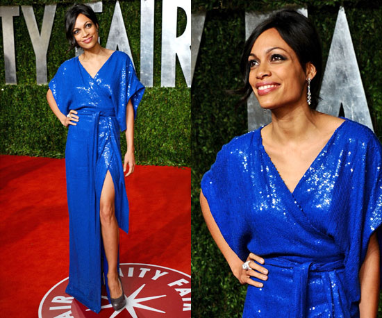 Rosario Dawson in Diane von Furstenberg at Vanity Fair Oscars Afterparty 2011 2011-02-28 11:00:53