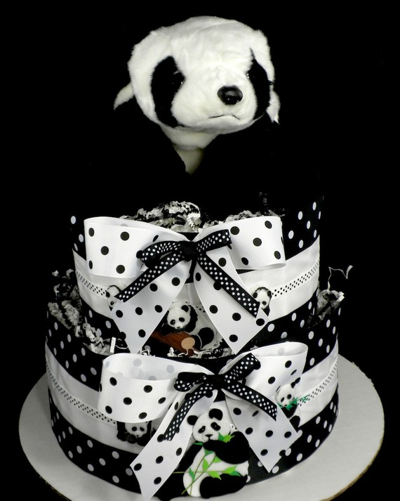 Panda Bear Centerpiece and Diaper Cake