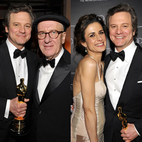 Pictures of Colin Firth, Livia Giuggioli, and Geoffrey Rush at Weinstein Oscar Party to Celebrate The King&#039;s Speech Wins