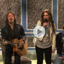 Miley Cyrus Impersonates Justin Bieber on Saturday Night Live