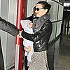 Pictures of Miranda Kerr and Orlando Bloom Leaving Paris With Flynn Bloom