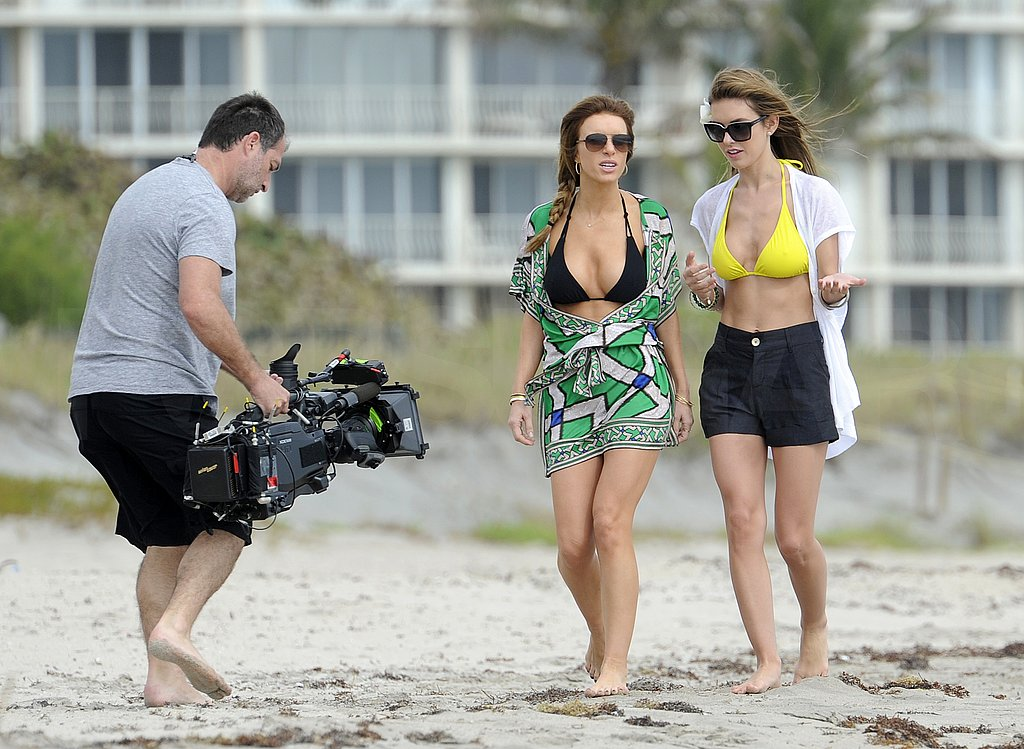 Audrina Patridge Films Her New Show on the Beach in Her Bikini Top!