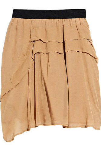 See by Chloé - Pleat-detailed chiffon high-waisted skirt