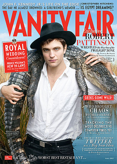 Robert Pattinson Wrangles a Crocodile and Talks Charlie Sheen, Kristen Stewart For Hot VF Cover