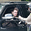 Pictures of Channing Tatum Being Pulled Over by a Cop and Getting a Traffic Ticket