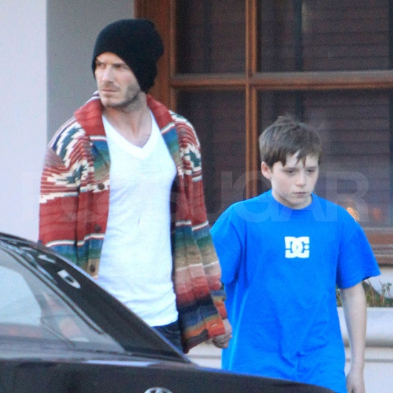 Pictures of David Beckham Shopping With Son Brooklyn in LA