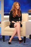 Isla Fisher Gets Up Early to Hit the Morning Shows