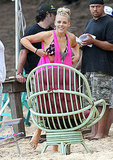 Courteney and Bikini-Clad Busy Have Fun on Set in Hawaii