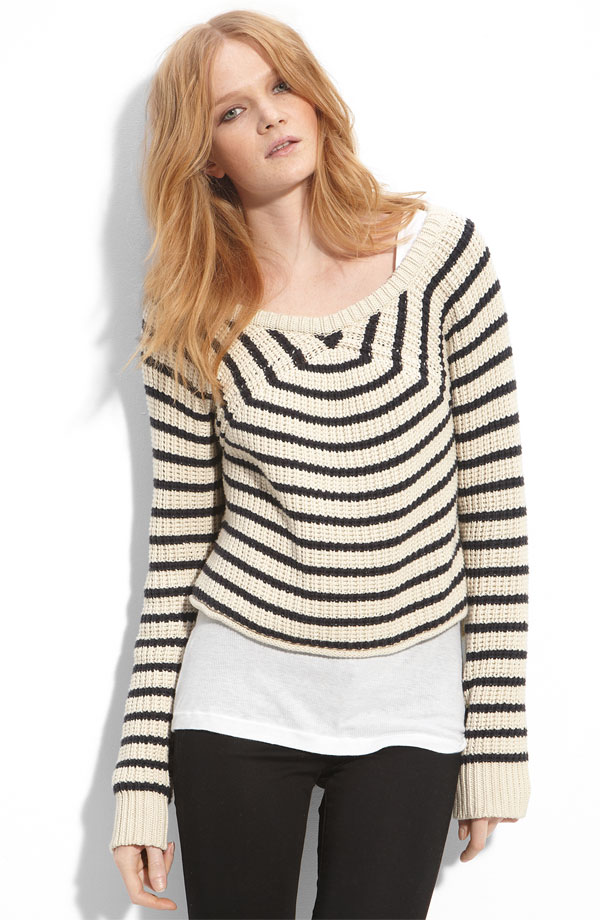 A Crisp, Striped Sweater to Layer