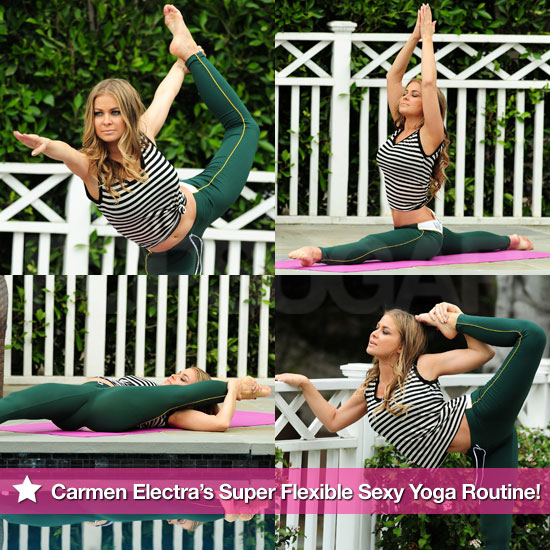 Pictures of Carmen Electra&#039;s Flexible Sexy Yoga Routine
