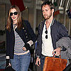 Pictures of Anne Hathaway Taking Off From LAX With Adam Shulman Following the Oscars