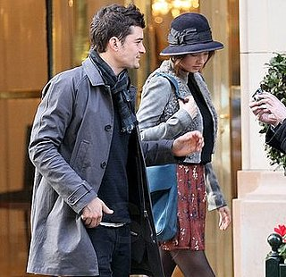 Pictures of Orlando Bloom and Miranda Kerr Leaving the Balenciaga Office in Paris