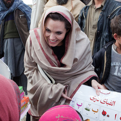 Pictures of Angelina Jolie in Afghanistan 2011-03-02 12:35:07