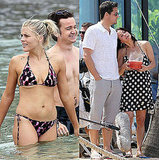 Pictures of Busy Philipps Bikini and Courteney Cox With Josh Hopkins on Set in Hawaii