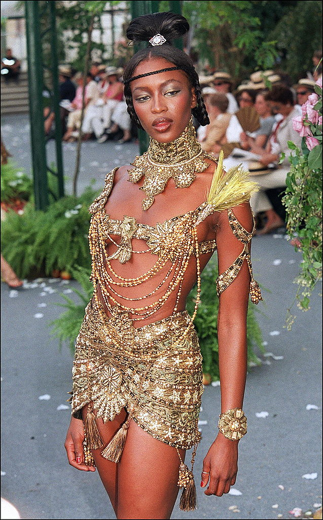 Naomi Campbell in Fall 1997 couture