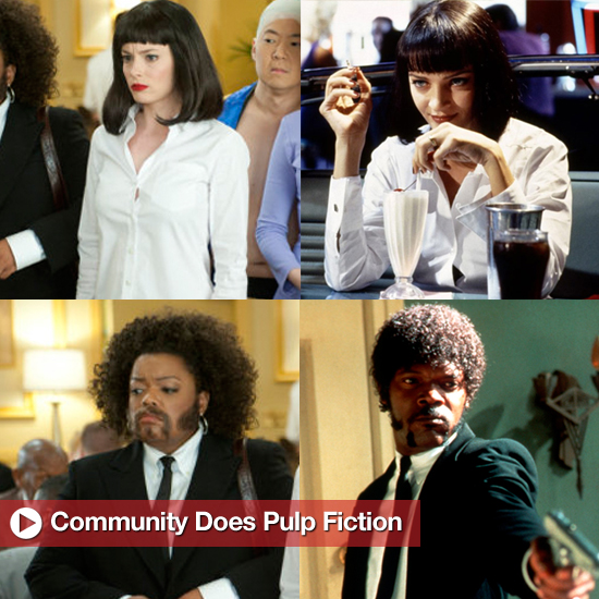 Community Cast Members as Pulp Fiction Characters Pictures