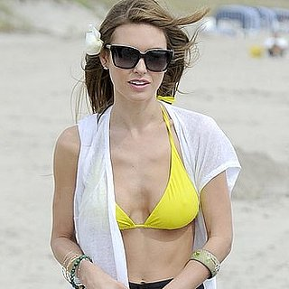 Pictures of Audrina Patridge in a Yellow Bikini