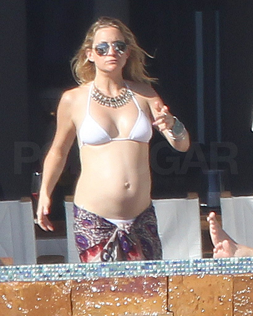 Kate Hudson Brings Her White Bikini South to Mexico With Matt and Ryder!