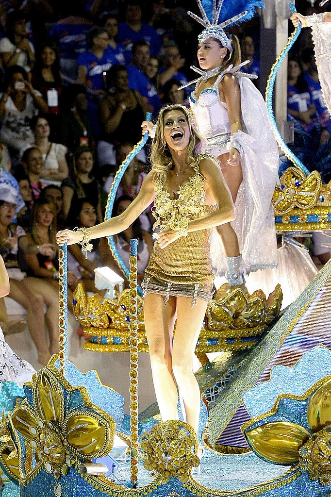 Gisele Throws On a Little Costume to Celebrate Carnival on a Float!
