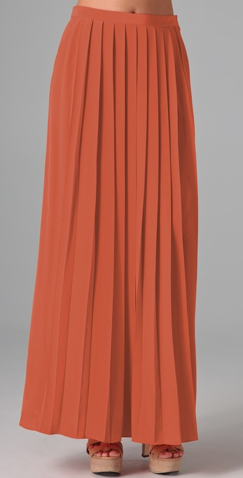 The knife pleats and fun orange color had us falling for this Tibi pleated skirt ($297).