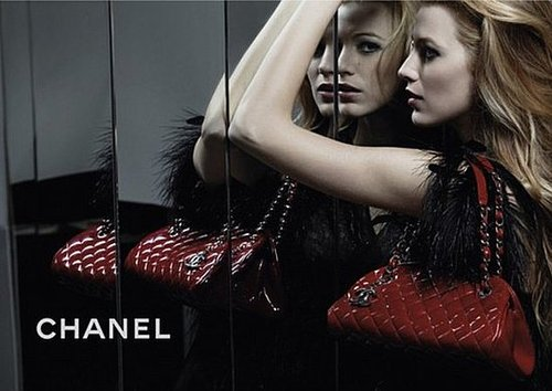 Photos of Blake Lively for Chanel Mademoiselle Handbag Line