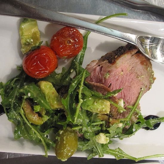 Pork Tenderloin With Arugula Avocado Salad