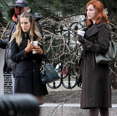 Pictures of Sarah Jessica Parker and Christina Hendricks on the Set of I Don't Know How She Does It in Boston 2011-03-09 15:18:05