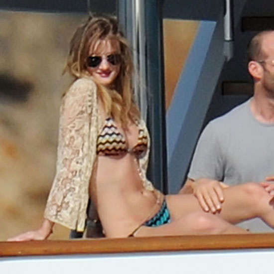 Rosie Huntington-Whiteley lounged in January 2011 in the Caribbean.