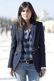 There's something so simple but so stylishly put-together about Emmanuelle Alt's blazer and plaid combo.