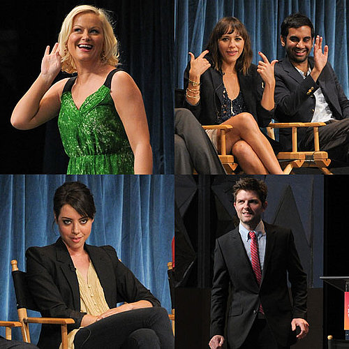 Pictures of Amy Poehler, Rashida Jones, Adam Scott, Aziz Ansari, and Aubrey Plaza at a Parks and Recreation Panel 2011-03-10 11:38:24