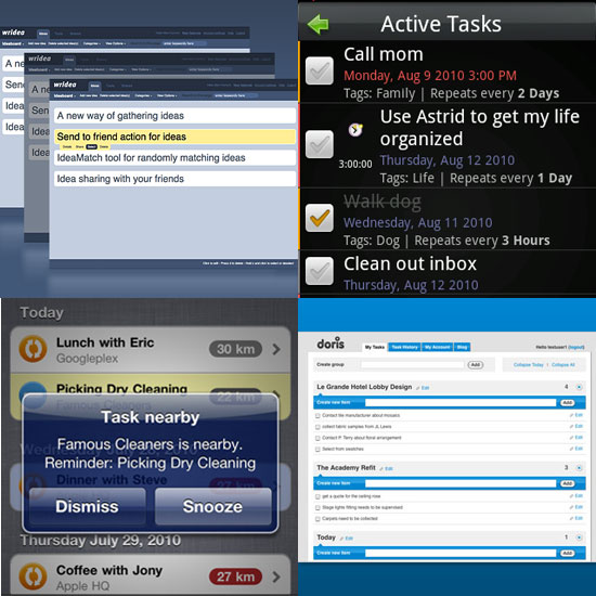 Task Managing Websites and Apps