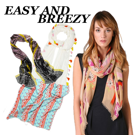 10 Pretty, Lightweight Scarves For Spring!