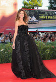 Channeling the drama of Black Swan at the film's Venice Film Festival premiere in a gorgeous, sheer and tulle gown.