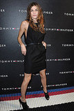 An LBD with serious attitude — with revealing side-cuts and open-toe booties for a Tommy Hilfiger event last Fall.