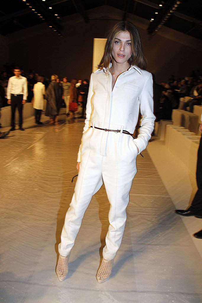 White on white never looked so easy-chic at Paris Fashion Week last March.