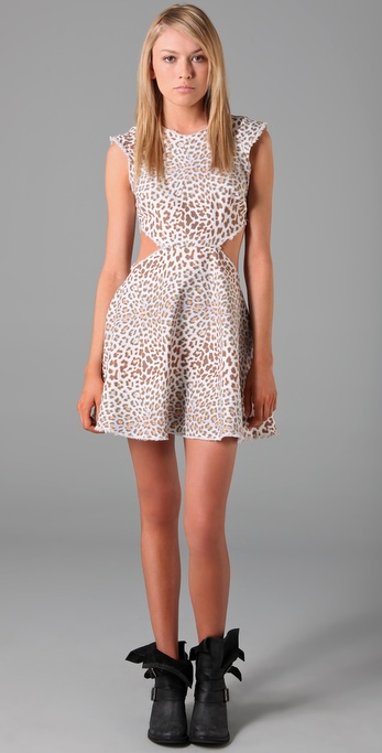 It's edgy, badass, and a super-sexy closet staple you'll be sporting again through the Fall with black tights. Pencey Leopard-Print Denim Cutout Dress ($238)
