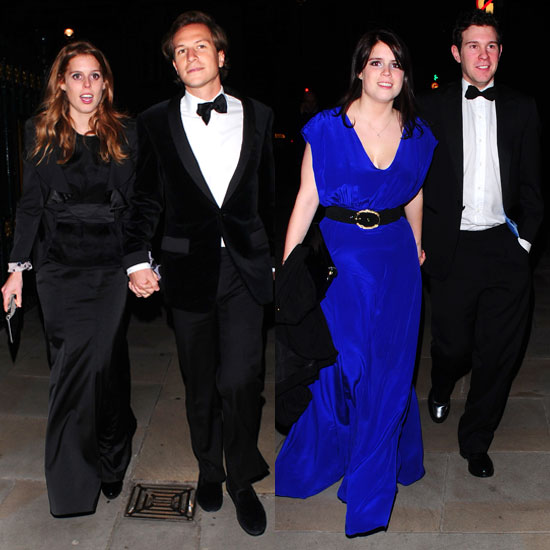 Pictures of Princess Beatrice and Princess Eugenie With Boyfriends Dave Clark and Jack Brooksbank at Children&#039;s Charity Event