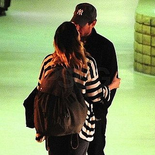 Pictures of Drew Barrymore Kissing Will Kopelman at Long Beach Airport