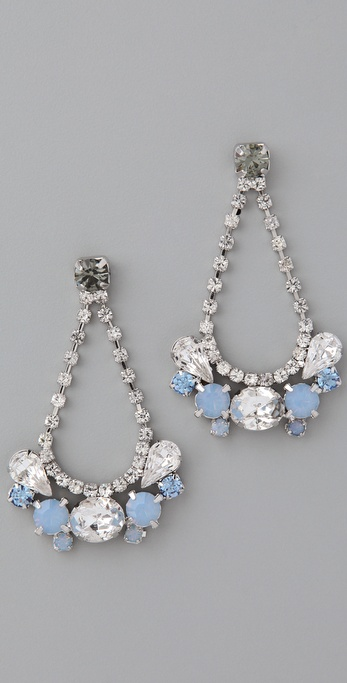 A gorgeous pair of drop earrings — with your something blue all built in.  Rachel Leigh Zelda Party Drop Earrings ($108)