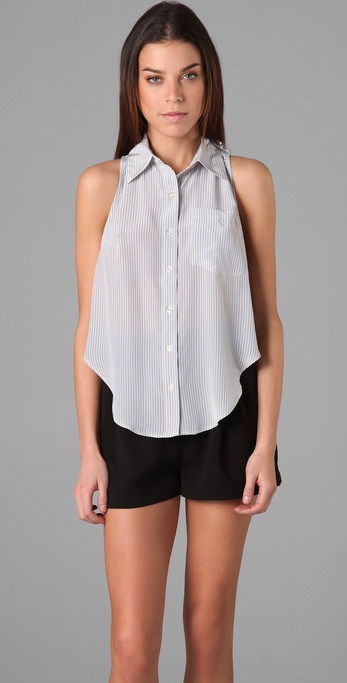 We love the looser, relaxed feel on this sweet little button-down, making it the perfect counterpart to a pair of high-waist denim. Reformation Pin Stripe Bridge Top ($154)