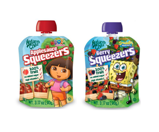 Nature's Child Nickelodeon Squeezers