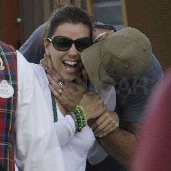 Eva Longoria Is Showered With Eduardo Cruz's Kisses on Her Disneyland Birthday!