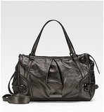 Burberry Metallic Leather Diaper Bag