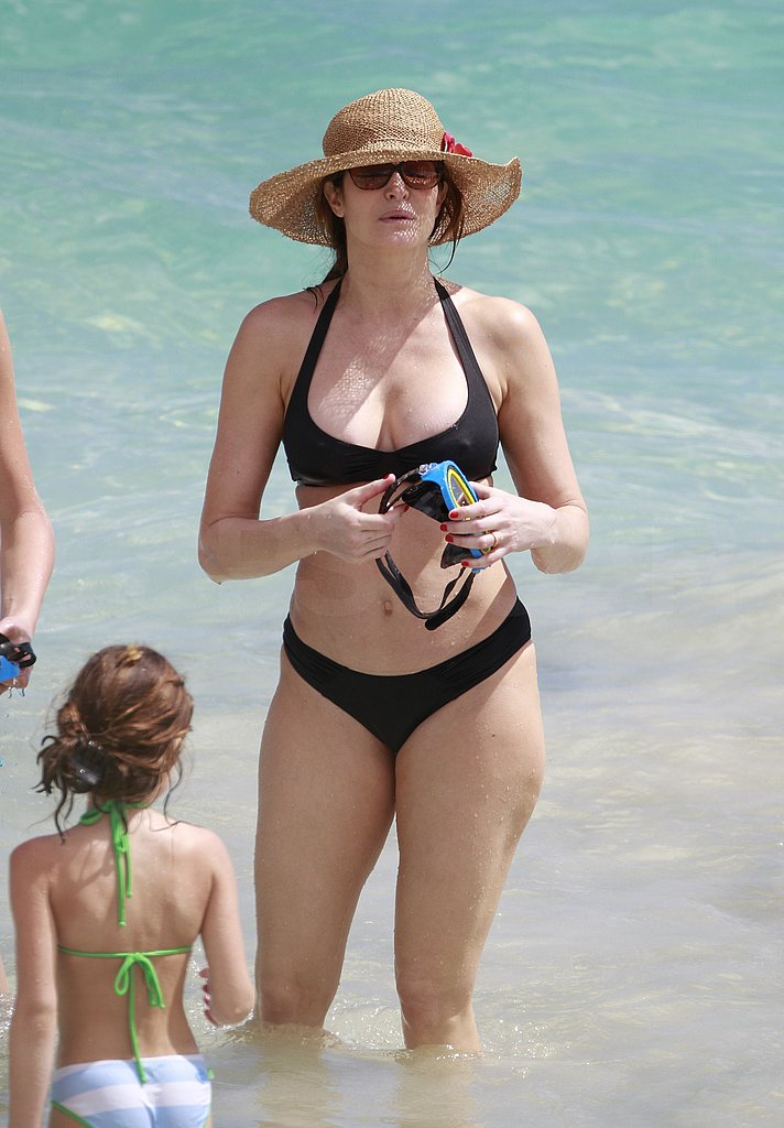 Stephanie Seymour Has a Bikini-Filled Beach Day in St. Barts With Her Kids