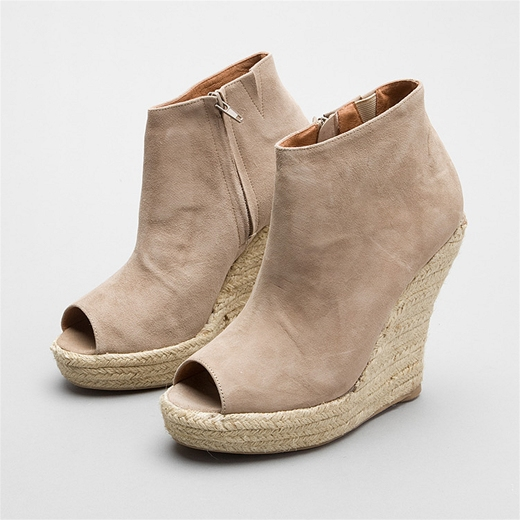 The espadrille wedge makes these Jeffrey Campbell Booties ($128) a comfy option for everyday wear. Plus, we love the subtle suede finish.