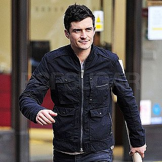 Pictures of Orlando Bloom Hanging Out in London's SoHo Neighborhood