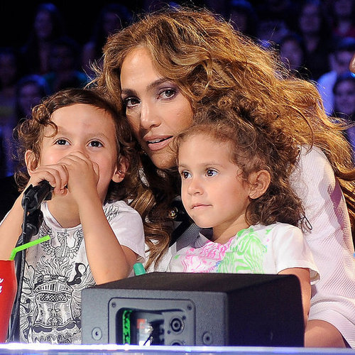 Jennifer Lopez Takes Her Twins to Work as Fergie Rocks the Idol Stage