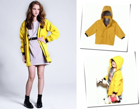 Petit Bateau Raincoat For Moms and Tots