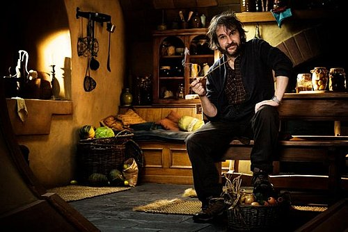 Pictures of Peter Jackson on the Set of The Hobbit 2011-03-21 10:20:33